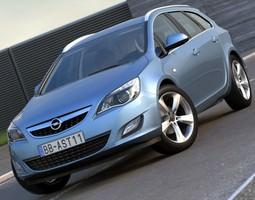 3D Opel Astra Sports Tourer 2011