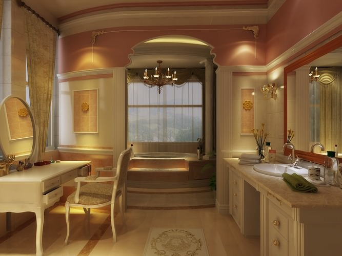 3d luxurious bathroom cgtrader for 3d bathroom models