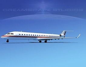 3D Bombardier CRJ900 Corporate 3