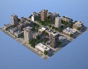 City medium size 3D asset