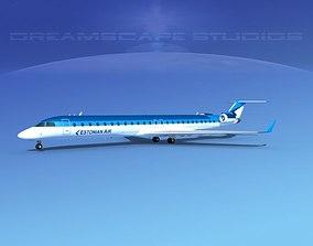 3D model Bombardier CRJ1000 Estonian Air