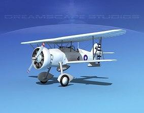 3D model Curtiss F-11-C2 Goshawk V08