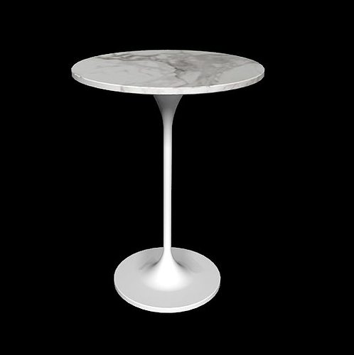 saarinen side table round 20 by knoll 3d model