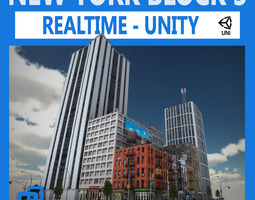 nyc block 3 unity 3d model low-poly
