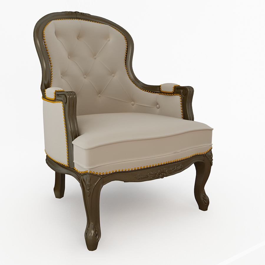Antique armchair 3d model max cgtradercom for Armchair vintage