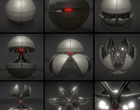 3D asset Sphere bot with Animations