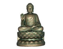 buddha low-poly 3d model 3d print model