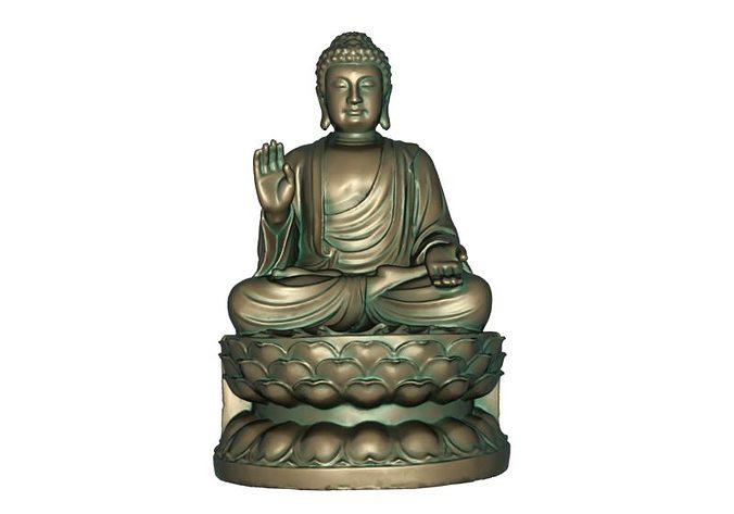 buddha 3d model max obj mtl stl 1