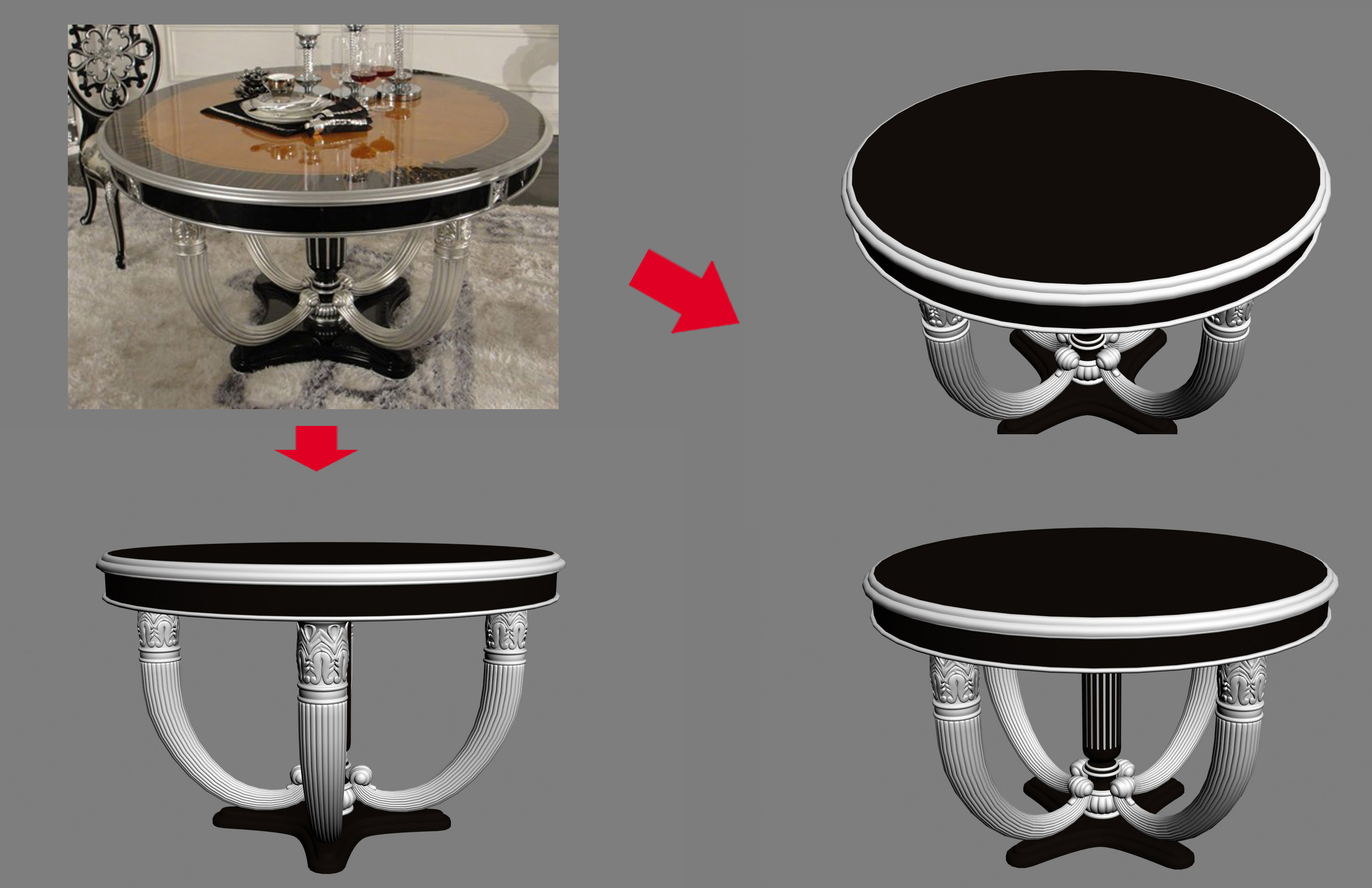 Unique round coffee table for living room 3d model max for Unique round coffee tables