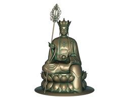 Buddha 3D print model 3D model game-ready girl