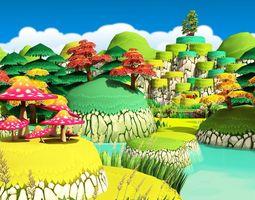 VR / AR ready 3D Cartoon Forest