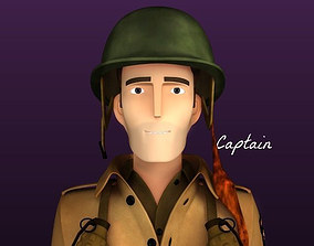 3D model Stylised WW2 Character - Captain