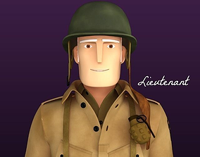 3D Stylised WW2 Character - Lieutenant