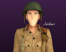Stylised WW2 Character - Soldier 3D