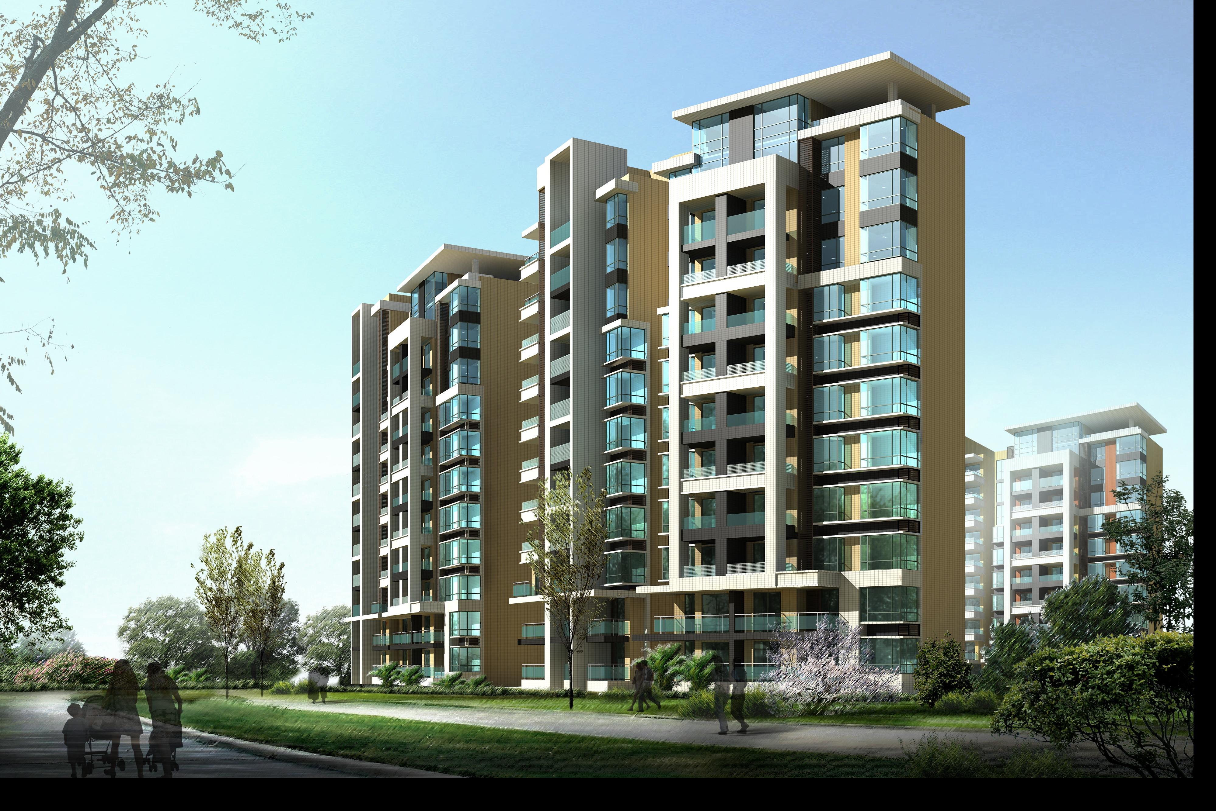 Modern residential houses2 free 3D Model M Grader.com - ^