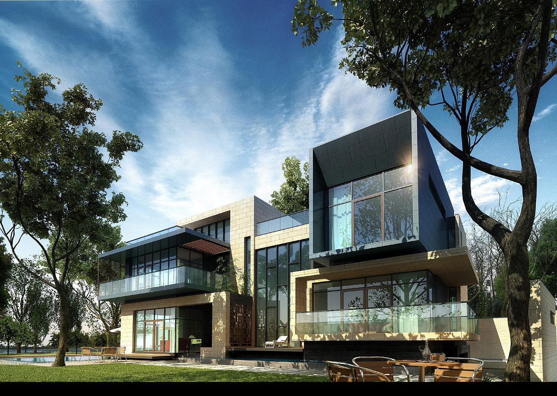3d villa 023 3d model max 1