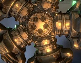 UFO Type 7 Animated and Game Ready 3D model