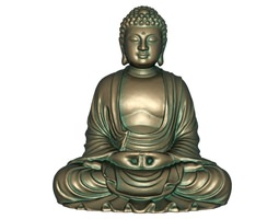 east 3D printable model 3D model realtime Buddha