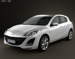 3D model Mazda 3 hatchback 2011