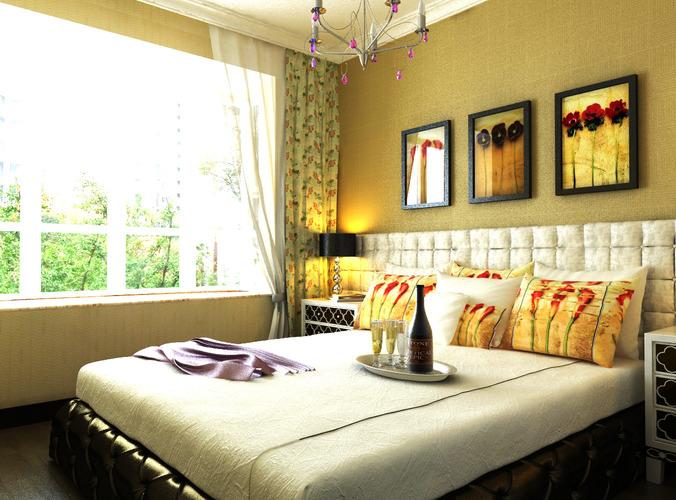Home Master Bedroom 3d Model Max