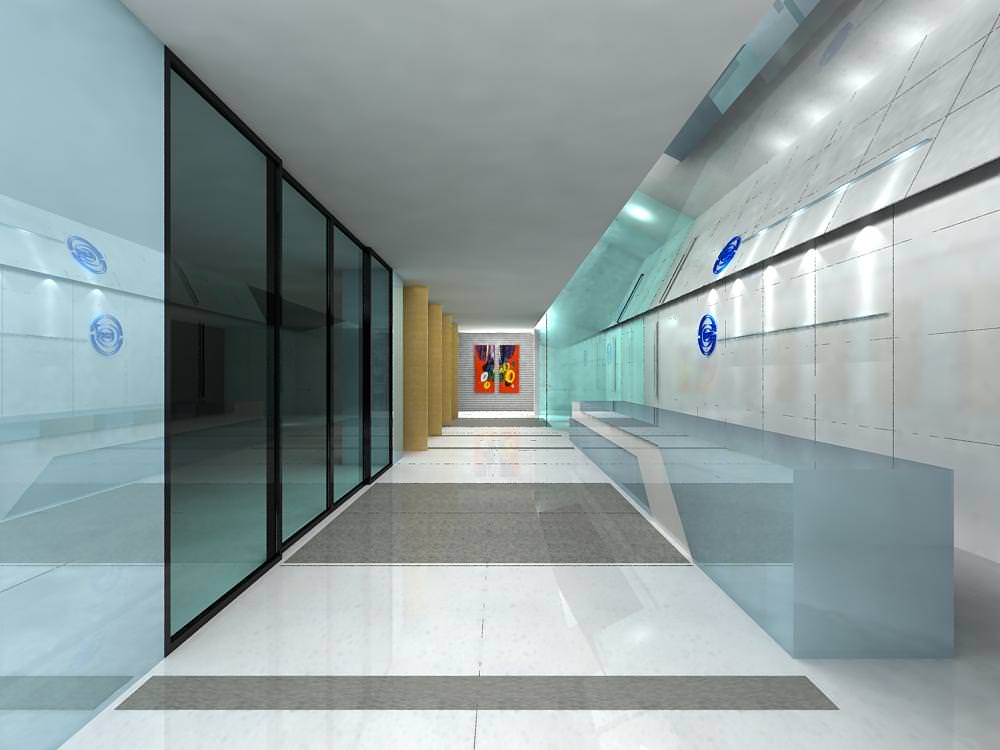 Spacious corridor space for receptions 3d model max - Schilderij model corridor ...