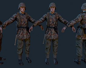 3D asset SS soldier 1943-1945