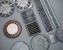 3d model manhole covers low-poly