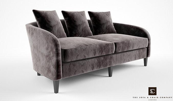 The Sofa And Chair Company Richmond Sofa 3D Model