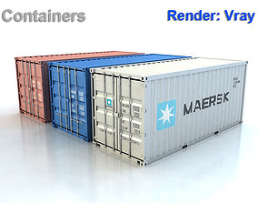 3D model 20ft Containers