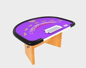 Blackjack Table 3D model