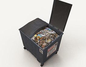 3D asset low-poly dumpster