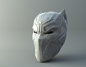 3D printable model Black Panther Mask from Civil War