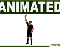 White Soccer Referee CG 3D Model