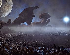 Alien Derelict 3D model