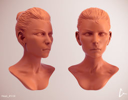 3d model female head 39