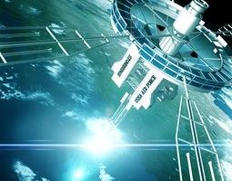 o d i n satellite 3d model