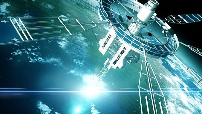 o d i n satellite 3d model max 1