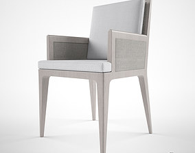 Baker Carmel Cane dining Chair 3D model