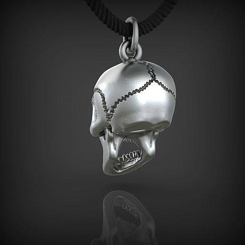 pendant skull stl 3d model 3d model stl 1