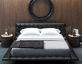 POLIFORM ONDA BED 3D model hotel