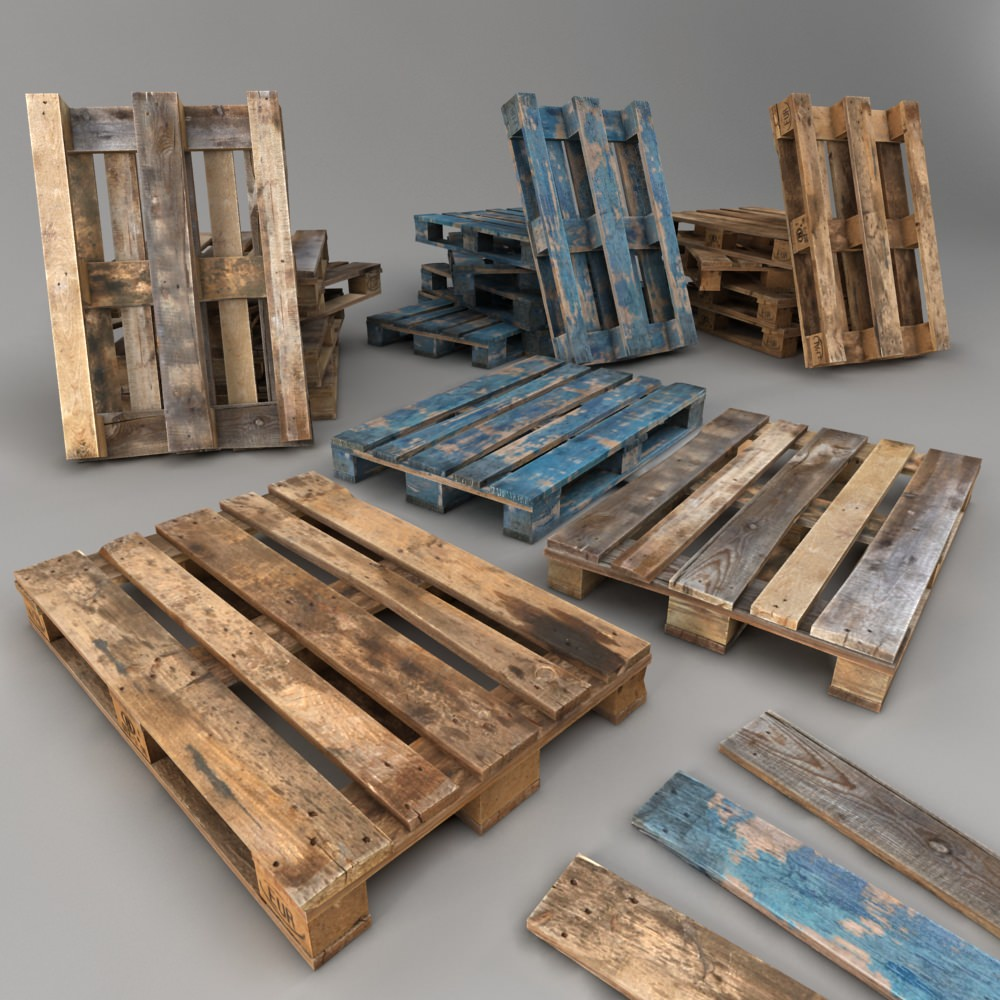 Euro Pallets Low Poly