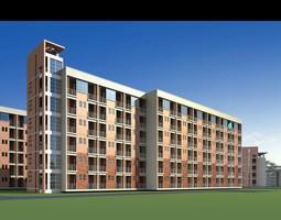 3d multi-storey residential building