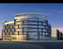 3d model high-end building for commercial building