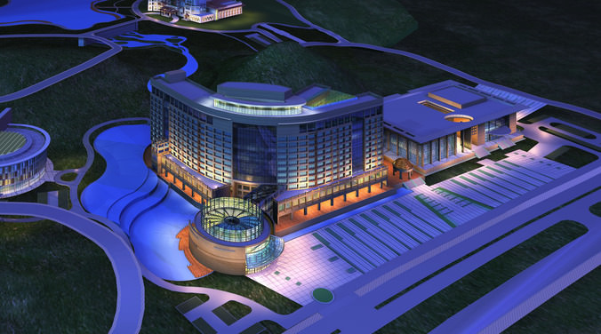 Exquisite 5 star hotel 3d model cgtrader for Design hotel 4 stars