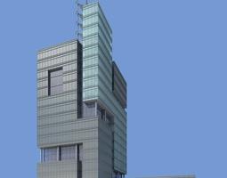 3d model architectural building with designer exterior