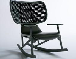 moroso klara armchair rocking chair 3D model