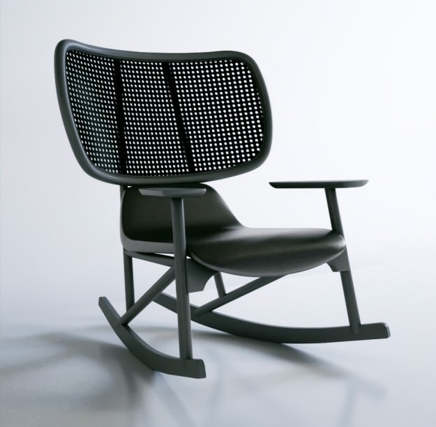 Moroso Klara Armchair Rocking Chair 3d Model Max Obj 1 ...