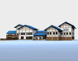oriental designed commercial complex 3d