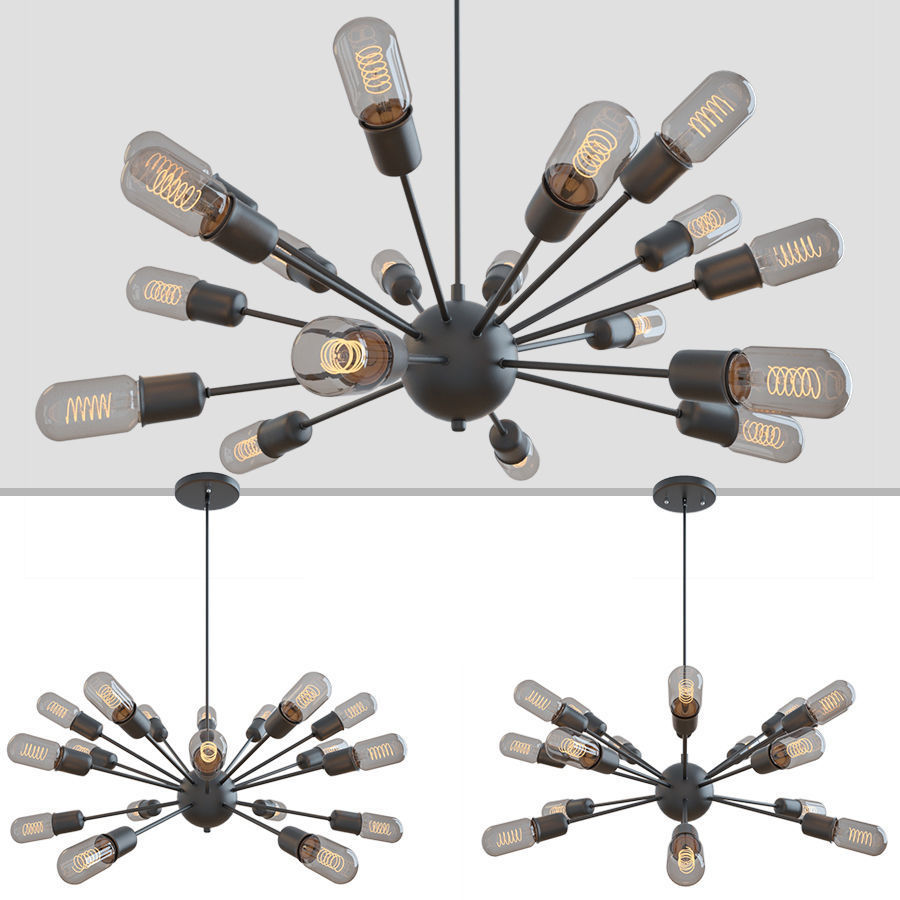 LOFT INDUSTRIAL SPUTNIK CHANDELIER ELLIPTICAL
