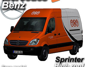 3D asset Mercedes-Benz Sprinter TNT